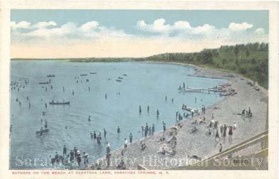 Bathers on the Beach, Saratoga Lake circa 1910