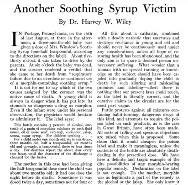 Another Soothing Syrup Victim June 1915 Good Housekeeping