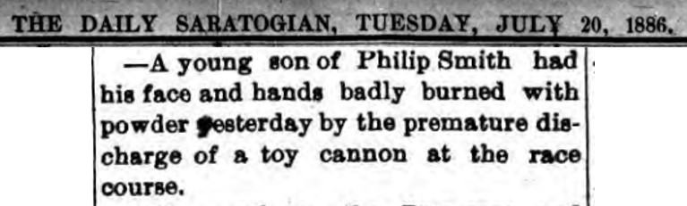 Daily Saratogian 7.20.1886 Accessed at FultonHistory.com