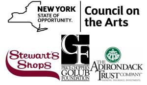 NYSCA Stewarts Golub Adk Trust Sponsor Logos Block